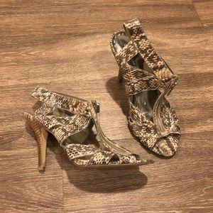 BCBGirls reptile heels